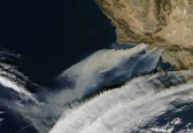 Santa Ana Winds Help Flame Huge Firestorm in Southern California -Photographer: NASA Goddard Space Flight Center